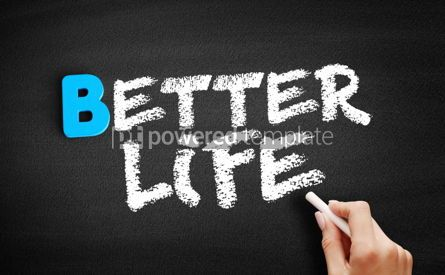 Business: Better life text on blackboard #00549