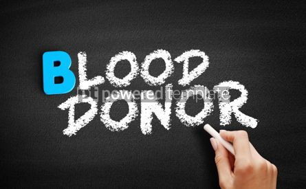 Business: Blood donor text on blackboard #00550