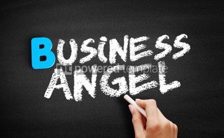Business: Business angel text on blackboard #00551