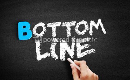 Business: Bottom line text on blackboard #00552