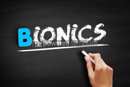 Business: Bionics text on blackboard #00553