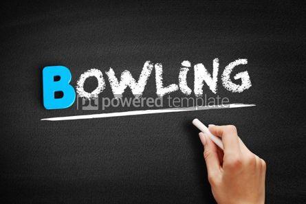 Business: Bowling text on blackboard #00554