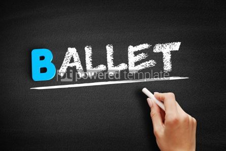 Business: Ballet text on blackboard #00556