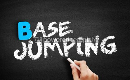 Business: BASE jumping text on blackboard #00557