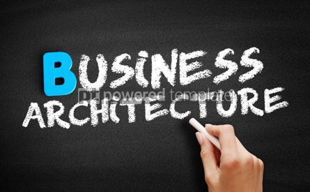 Business: Business architecture text on blackboard #00558