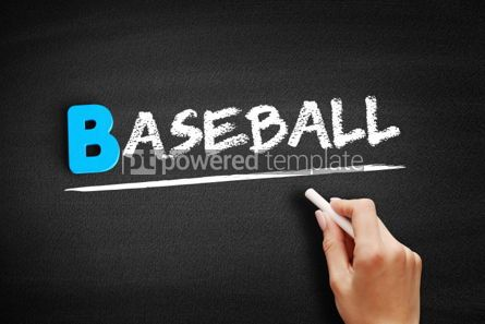 Business: Baseball text on blackboard #00559