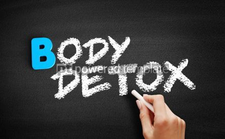 Business: Body detox text on blackboard #00560