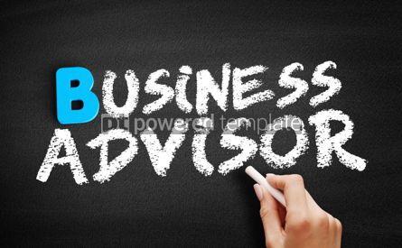 Business: Business advisor text on blackboard #00561