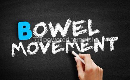 Business: Bowel movement text on blackboard #00562