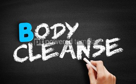 Business: Body cleanse text on blackboard #00565