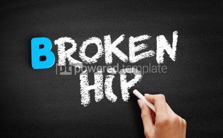 Business: Broken hip text on blackboard #00566