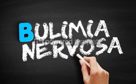 Business: Bulimia nervosa text on blackboard #00568