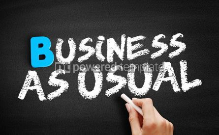 Business: Business as Usual text on blackboard #00569
