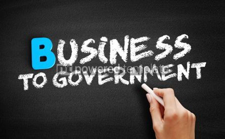 Business: Business To Government text on blackboard #00570