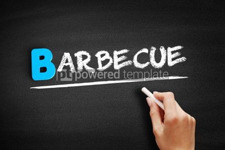 Business: Barbecue text on blackboard #00572