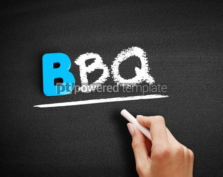 Business: BBQ barbecue text on blackboard #00573