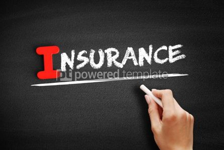 Business: Insurance text on blackboard #00574