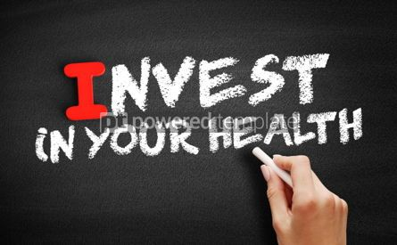 Business: Invest In Your Health text on blackboard #00576