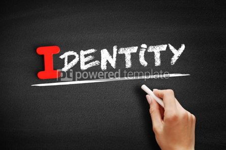 Business: Identity text on blackboard #00583