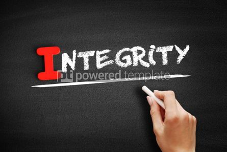 Business: Integrity text on blackboard #00584