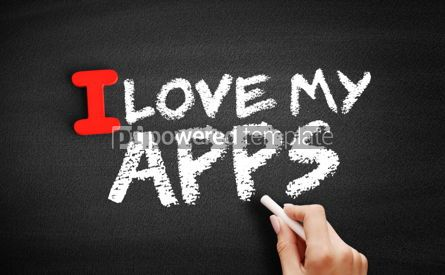 Business: I love my apps text on blackboard #00586