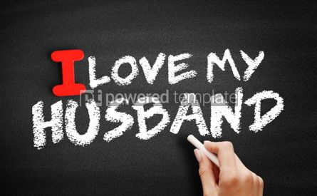 Business: I love my husband text on blackboard #00587