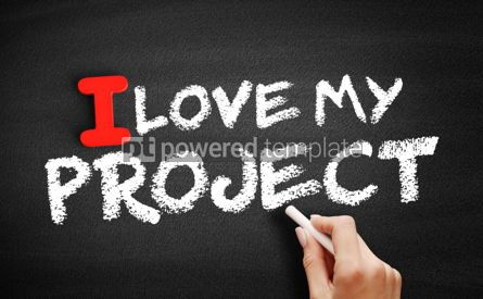 Business: I love my project text on blackboard #00588