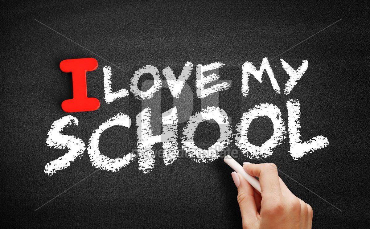 I love my school text on blackboard, 00590, Business — PoweredTemplate.com