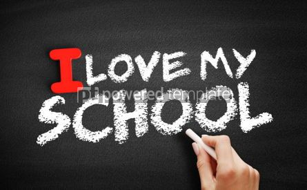 Business: I love my school text on blackboard #00590