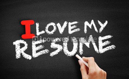 Business: I love my resume text on blackboard #00591