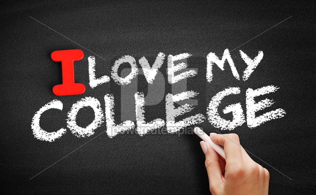 I love my college text on blackboard, 00592, Business — PoweredTemplate.com