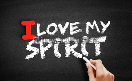 Business: I love my Spirit text on blackboard #00593