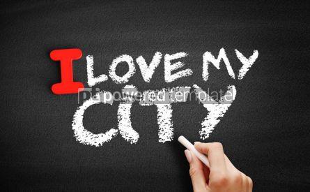 Business: I love my city text on blackboard #00594