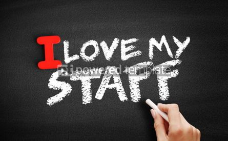 Business: I love my staff text on blackboard #00595