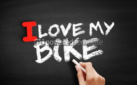 Business: I love my Bike text on blackboard #00597