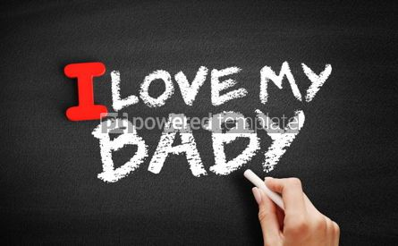 Business: I love my Baby text on blackboard #00598