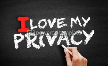 Business: I love my privacy text on blackboard #00600