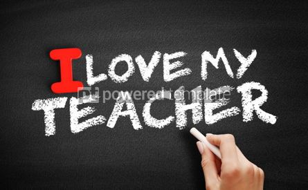 Business: I love my teacher text on blackboard #00601