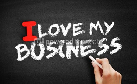 Business: I love my business text on blackboard #00602