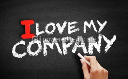 Business: I love my company text on blackboard #00604