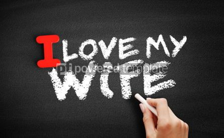 Business: I love my wife text on blackboard #00605