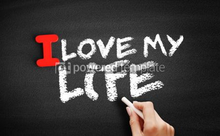 Business: I love my life text on blackboard #00608