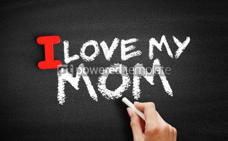 Business: I love my Mom text on blackboard #00609