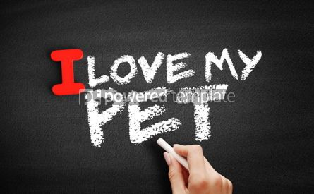 Business: I love my Pet text on blackboard #00610