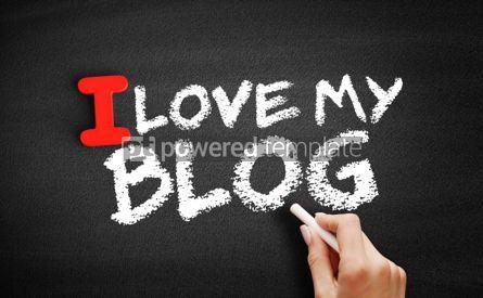 Business: I love my blog text on blackboard #00612
