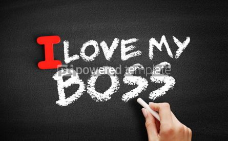 Business: I love my Boss text on blackboard #00613