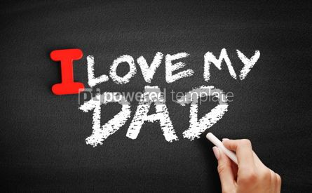 Business: I love my Dad text on blackboard #00614