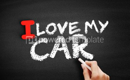 Business: I love my car text on blackboard #00615