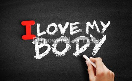 Business: I love my body text on blackboard #00616