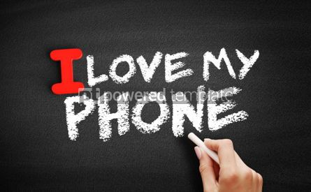 Business: I love my phone text on blackboard #00617